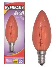 Eveready 25w Red Fireglow Candle Bulb – Small Edison Screw (SES)