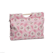 Knitting Bag Sewing Bag with wood handles 100% cotton Pink Cameo  11x42x31.5cm