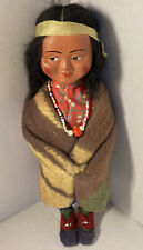 Antique Vintage SKOOKUM INDIAN Bully Good Doll Girl Necklace Native American