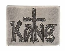 WWE WWF ~ KANE CROSS BELT BUCKLE ~ VINTAGE SILVER FINISH ~ WRESTLING ~ AWESOME!