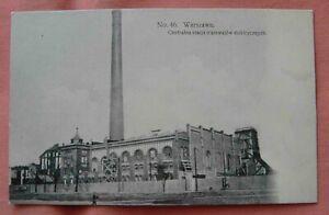 Poland Warsaw Electricity Plant unused  c 1913