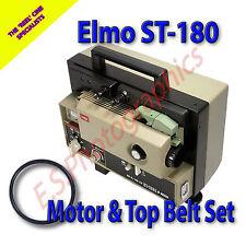 ELMO ST-180 SUPER 8MM SOUND alle cine proiettore Cinture Set di 2