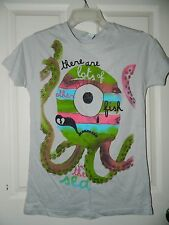 NWT girls juniors TOO MANY FISH IN THE SEA Octopus Tee Shirt TOP* S Small  $22