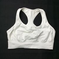 Champion Light Support Womens White Sports Bra Size Large L Athleisure N9069