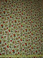 Fall Autumn Berry Apple Toss Print VTG Cotton Fabric 1 1/3 YDS Concord