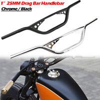 Univesal 1 Zoll 25mm Lenker Drag Bar Schwarz Handlebar für Harley Davidson 883