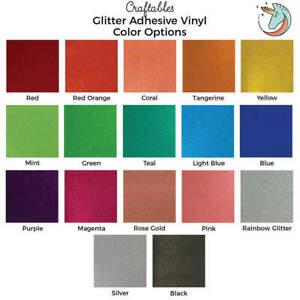 Craftables Glitter Vinyl Rolls for Cricut, Silhouette   Permanent Adhesive Vinyl