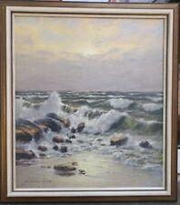 Stemmeler Christian * 1928 Gemälde Wellen / Brandung an felsiger Küste / Strand