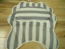 Bath Pillow - Bath Tub Cushion (with Suction Cups, White/Grey)