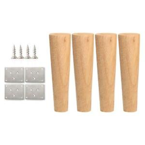 Sofa Couch Bed Replacement Legs Mat Round Solid Wooden Furniture Legs