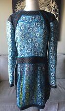 Charlie Jade Women's Rave Cosplay Long Sleeve Silk Mini Dress Large Print #A40