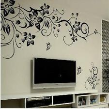 Wall Sticker Vine Flower Butterfly Mural Art Wall Sticker Vinyl Home Decal Decor