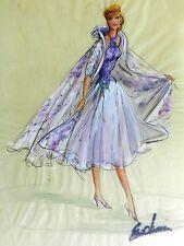 Signed Elois Jenssen - Original 1950's Lucille Ball Costume Sketch