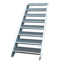 Stahltreppe Treppe 8 Stufen-Stufenbreite 150cm / Geschosshöhe 120-160cm verzinkt