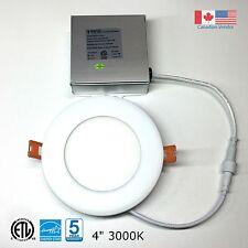 4'' Recessed LED Panel Light Ceiling/Pot Light 9W Dimmable Warm White 3000k ETL