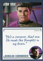 Star Trek TOS Archives & Inscriptions card #19 Romulan Commander  Var 13 of 16