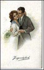Weco Künstlerkarte *Jugendglück* Verliebtes Paar AK Art Vintage Postcard