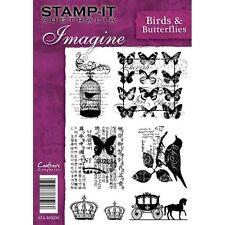 Crafters Companion Stamp-It Australie A5 non montés timbres oiseaux & papillons