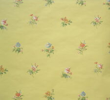 CAREY LIND FLOWERS on YELLOW wallpaper DOUBLE ROLL