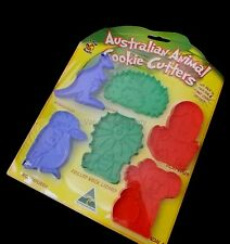 6 Australian Made Souvenir Animal Cookie Cutters Fauna Kangaroo Koala Platypus