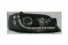 LED Projector Black Headlights for Ford Territory TX Model 4WD 04 08 DRL Style