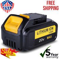 For DEWALT DCB200 DCB184 18V 4.0Ah XR 4000Mah Li-Ion Slide Battery DCB204 DCB205
