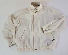 Vintage Members Only Mariner Windbreaker Jacket Sz Medium Lt Beige w Taupe Trim