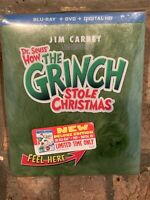 Dr. Seuss' How the Grinch Stole Christmas Deluxe Edition Blu-ray DVD Digital HD