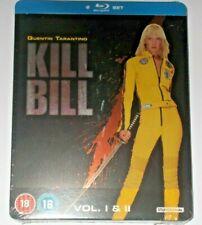 Kill Bill Vol. 1 & 2 UK Limited Blu-Ray Steelbook Rare OOP (New Sealed)