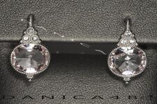 $400 JUDITH RIPKA  Sapphire La Petite Oval Crystal Silver 18K Gold Drop Earrings