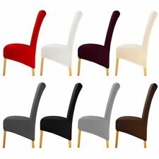 Dinning Chair Cover Long Back Seat Slipcover Spandex Decorations Fabrics XL Size