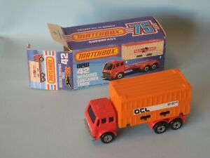 Lesney Matchbox Superfast 42 Mercedes Container Truck  OCL Orange Playset
