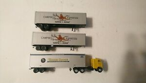 Athearn/Walthers HO Train Lot of 3 Trailers and 1 Truck C&O, Campbell
