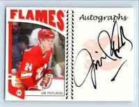 2004-05 ITG Franchises Canadian Autographs Jim Peplinski Auto /10 #A-JPE