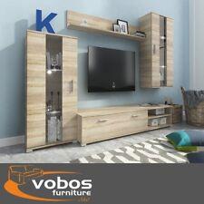 Set di mobili soggiorno Tv Unità Stand armadio armadietto mensola rovere sonoma