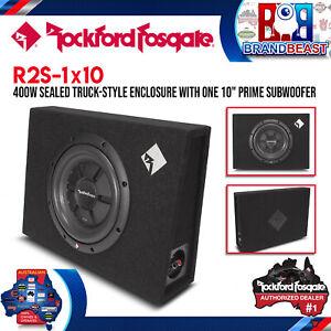 "Rockford Fosgate R2S-1X10 Prime 10"" R2S Shallow Loaded Enclosure"