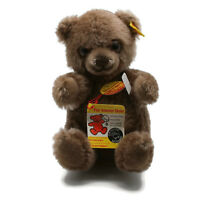 "STEIFF Manschli Buddha Bear # 0310/19 Brown Mohair 7"" West Germany Ca. 1980s"