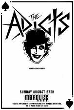 The Adicts 2017 Phoenix Concert Tour Poster-Punk Rock/Pathetique, New Wave Music