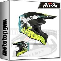 AIROH WRSM31 INTEGRALHELME OFF-ROAD MOTORRAD GELB MATT WRAAP SMILE S