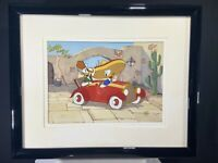 Limited Edition Disney Don Donald, 1992 Hand Painted Cel, VERY RARE! w/CoA