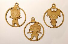 wooden lol doll bauble Christmas tree decoration 3mm mdf Laser Cut wood charact