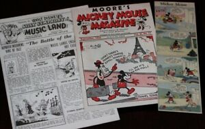 Walt Disney Mickey Mouse Magazine Trip to Europe Music Land 1935 2003 Archives