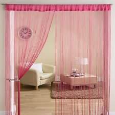 Classic String Tassle Fringe Panel Divider Window Door Curtain 90x200cm FUSHIA