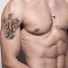 Temporary Tattoo Stickers Waterproof Men Arm Fake Transfer Tattoos Cross Designs