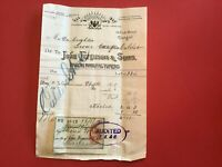 John Ferguson and Sons Brush Manufacturers 1905  Glasgow receipt R33111