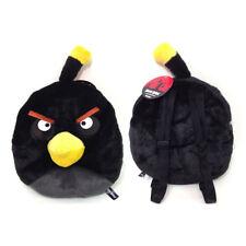 Angry Birds Black Bird Big Face Plush Backpack Bag by Rovio NEW