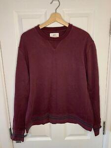 Mr P Mr Porter Mens Burgundy Sweater Jumper Pull Over Size Extra Large XL