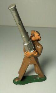 Barclay B-118 Soldier w/ AA Gun (cast helmet) Manoil