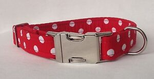 Handmade Fabric Dog Collar 100% Cotton Fabric (matching lead available)
