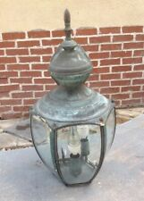 Vintage Porch Light Outdoor Flush Mount Weathered Green Patina